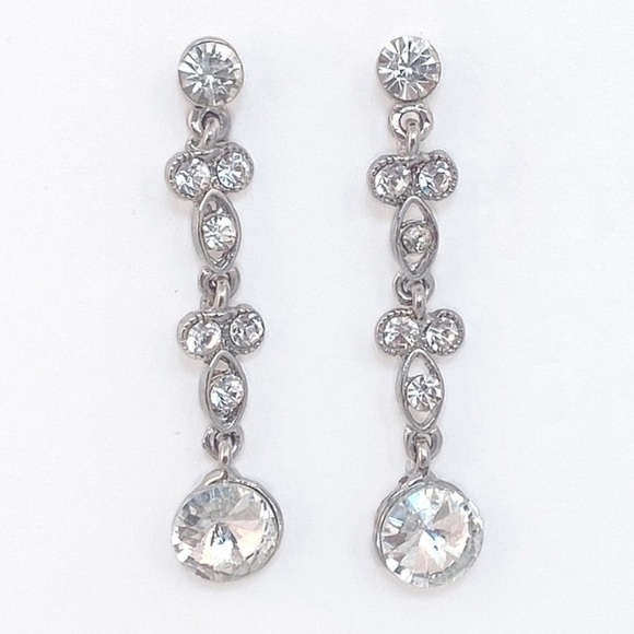 Prom Pageant Bridal Jewelry - Crystal Drop Earrings   e2